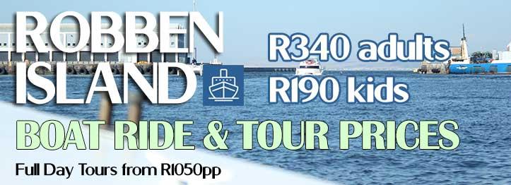 Robben Island Tour Prices